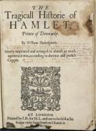 [Hamlet] The tragicall historie of Hamlet, Prince of Denmarke.