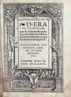 D. Erasmi Roterodami Opus de conscribendis epistolis