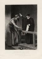 Portia and Shylock ... Merchant of Venice, act IV, scene 1 [graphic] / J.D. Watson pinxt. ; C.W. Sharp sculpt.