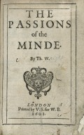 The passions of the minde ...