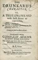 The drunkard's character ...