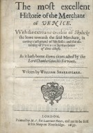 The most excellent historie of the merchant of Venice.