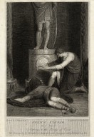 Julius Caesar, act 3, scene 1, Antony & the body of Caesar [graphic] / painted by R. Westall ; engraved by Jas. Parker.