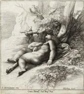 [Infant Hercules Asleep, after Parmegiano] [graphic] / F. Parmegiano inu. ; W. Hollar fecit.