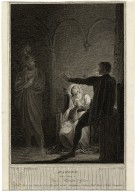 Hamlet, act 3, scene 4, Queen, Hamlet & Ghost [graphic] / painted by R. Westall, R.A. ; engraved by W.C. Wilson.