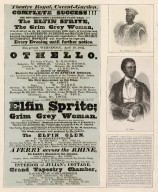 [Ira Aldridge's first appearance at Covent Gardens in the role of Othello - a play bill dated 1833 plus 2 small engraved portraits and an article in German, mounted together] [graphic].