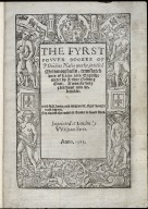 The fyrst fovver bookes of P. Ouidius Nasos worke, intitled Metamorphosis, translated oute of Latin into Englishe meter by Arthur Golding Gent.
