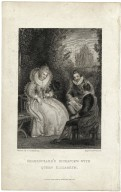 Shakespeare's interview with Queen Elizabeth [graphic] / painted by T. Stothard R.A. ; engraved by W. Enson.