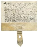 An indenture signed by Edward Alleyn