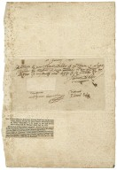 Receipt signed for loan of £3 [manuscript]: Philip Hynchlow, January 18, 1599.