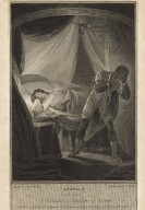 Othello, act 5, scene 2, a bedchamber, Desdemona in bed asleep [graphic] / painted by Josiah Boydell ; engraved by Geo. Noble.