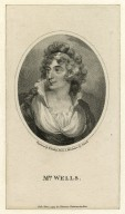Mrs. Wells [graphic] / engraved by W. Ridley ; from a miniature by Naish.