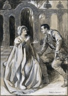 [Much ado about nothing, V, 2, performed at the Imperial Theatre, 1903, Ellen Terry as Beatrice, Oscar Ashe as Benedick] [graphic] / Chas. A. Buchel, 1903.