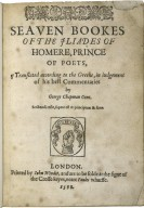 Seauen bookes of the Iliades...translated...by George Chapman…