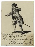 Mr. Garrick in the character of Benedick