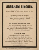 Abraham Lincoln ... Shakespeare applied to our national breavement ...