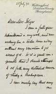 Letter to Mrs. H.C. Folger