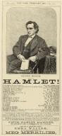 Playbill for Hamlet February 3, 1870