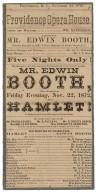 Playbill for Hamlet November 20, 1872