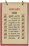 Shakespeare Calendar