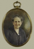 Oval miniature of Mrs. Folger