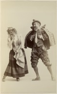 Sidney Herbert as Don Adriano de Armado and Kitty Cheatham as Jaquenetta [in Augustin Daly's production of Love's Labour's Lost]