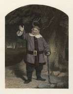 Mr. Hackett as Falstaff [in Shakespeare's Merry wives of Windsor] ... [graphic] / engraved by Hollis ; from a daguerreotype by Mayall.