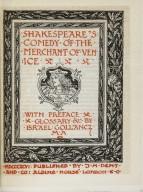 The Temple Shakespeare, Golliancz edition, Merchant of Venice