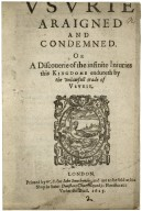 Vsurie araigned and condemned…