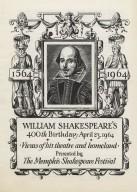 Shakesepeare Quatercentenary exhibit of the Memphis Shakespeare Festival - program