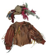 Brown leather jerkin and hat for E.H. Sothern as Petruchio