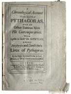 A chronological account of the life of Pythagoras…
