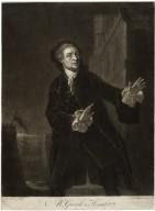 Mr. Garrick in Hamlet, act I, scene 4 [graphic] / B. Wilson pinxt. ; J. McArdell fecit.