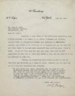 Letter to Paul Cret