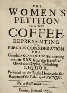 The women's petition against coffee.