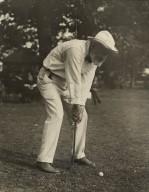 Mr. Folger playing golf (photo)