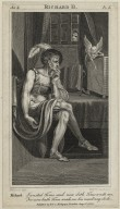 Richard II, act 4, sc. 5 [i.e. V, 5] Richard: I wasted Time and now doth Time waste me. For now hath Time made me his numb'ring clock [graphic] / H. Fuseli, del. ; R.H. Cromek, sc.