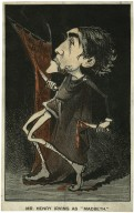 """Mr. Henry Irving as """"Macbeth"""" [graphic]."""
