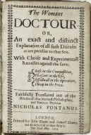 The womans doctour, or, An exact and distinct explanation of all such diseases as are peculiar to that sex...