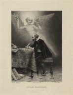William Shakespeare [at his desk with an angel hovering above] [graphic] / Jacques Wagrez, inv. ; Louis Ruet, sc.