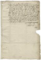 Letter from George Talbot, Earl of Shrewsbury, to Elizabeth Hardwick Talbot, Countess of Shrewsbury