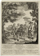 Scene from Lethe, with David Garrick as Lord Chalkstone.