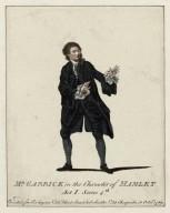 Mr. Garrick in the character of Hamlet