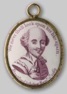 Double-sided enamel: Shakespeare side