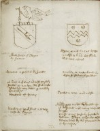 A note of some coats and crests lately come to my hands given by William Dethick when he was York...