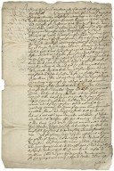 "Copy of a Privy Council order to Sir William Ellis, member of the King's Council at York, July 15, 1622, ordering him to a barber because he wore ""the haire of his head some what longer behinde then ordinarie..."""