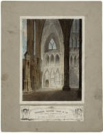 Poet's corner, Westminster Abbey : [graphic] changing to The Shades of Shakspeare, Scott & Byron [sic].
