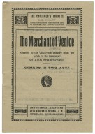 Merchant of Venice : adapted to the Children's Theatre from the work of the immortal William Shakespeare.