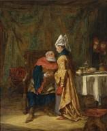 Sir John Falstaff and Mistress Quickly