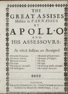 The great assises holden in Parnassus by Apollo and his assesours: at which sessions are arraigned Mercurius Britanicus...
